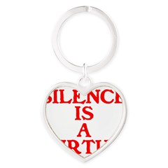 SILENCE IS A VIRTUE™ Heart Keychain