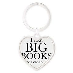 I LIke Big Books Heart Keychain