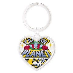 Captain Planet Power Heart Keychain