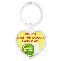 pickles Heart Keychain