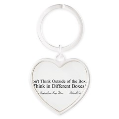 Boxes Heart Keychain