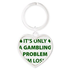 Gambling Problem Heart Keychain
