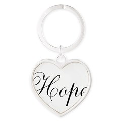Hope Heart Keychain