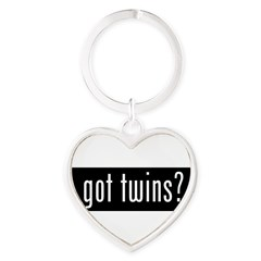 got twins? Heart Keychain