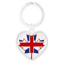 UK Maple Heart Keychain