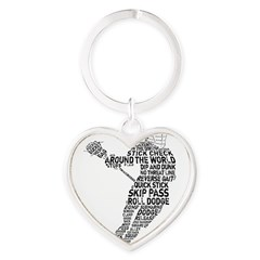 Lacrosse LAX Player Heart Keychain
