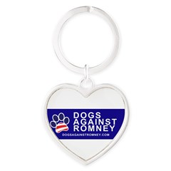 Official Dogs Against Romney Paw Heart Keychain