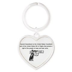 The Second Amendment Heart Keychain
