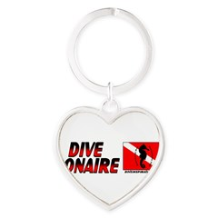 Dive Bonaire (red) Heart Keychain