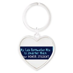 Lab Rottweiler Mix Heart Keychain