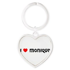 I LOVE MONIQUE Heart Keychain