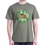 Wet Pond Frog Military Green T-Shirt