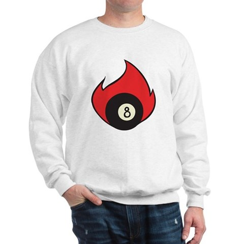 Flaming Eight Ball Tattoo Sweatshirt