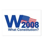 W 2008-What Constitution? Postcards (Package of 8)