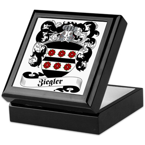 Ziegler Coat of Arms Keepsake Box