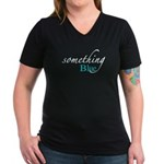 Something Blue Women's V-Neck Dark T-Shirt