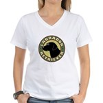 Black Lab Crest - Women's V-Neck T-Shirt