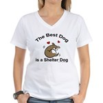 Best Shelter Dog Women's V-Neck T-Shirt