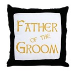 Sherbet Father of the Groom Throw Pillow
