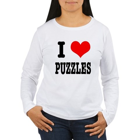 i love/heart jigsaw puzzles youth long sleeve t-shirt (for kids