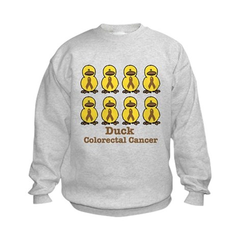 Colorectal Cancer Awareness Ribbon. CafePress > Sweatshirts & Hoodies > Colorectal Cancer Awareness Ribbons Sweatshirt. Colorectal Cancer Awareness Ribbons Sweatshirt