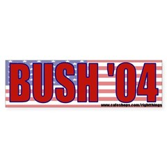 George Bush 2004 Sticker (Bumper)