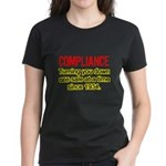 Compliance Turn Down Women's Dark T-Shirt