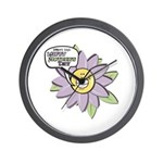 Happy Mother's Day Purple Flower Wall Clock