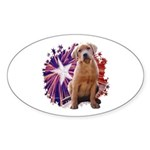 Lab Star Oval Sticker