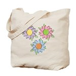 Pretty Mother's Day Cartoon Flowers Tote Bag