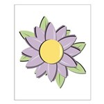 Purple Cartoon Flower Spring Small Poster