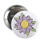 "Purple Cartoon Flower Spring 2.25"" Button (10 pack"