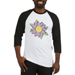 Purple Cartoon Flower Spring Baseball Jersey