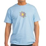 Purple Cartoon Flower Spring Light T-Shirt