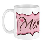 Pink World's Best Mom Plaque Mug