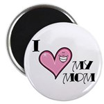 I Love Heart My Mom Mother's Day Magnet