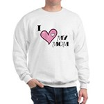 I Love Heart My Mom Mother's Day Sweatshirt