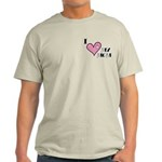 I Love Heart My Mom Mother's Day Light T-Shirt