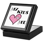 My Kids Love Heart Me Mom Teacher Keepsake Box