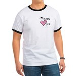 My Kids Love Heart Me Mom Teacher Ringer T