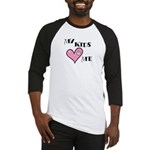 My Kids Love Heart Me Mom Teacher Baseball Jersey