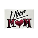 Uber Mom Mother's Day Heart Rectangle Magnet (10 p