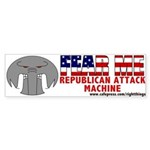 """FEAR ME"" Beware the R.A.M. Bumper Sticker"