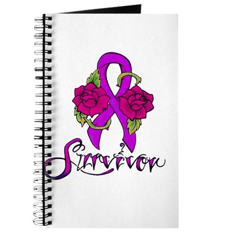 Survivor Ribbon Tattoo with Roses design by Magenta, a Member of HAF.