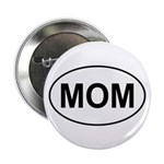 "Mom European Oval Mother's Day 2.25"" Button (10 pa"