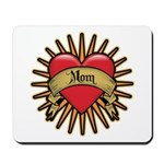 Red Heart Tattoo Mom Mother Mousepad