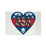 Heart Wonder Mom Mother's Rectangle Magnet (10 pac
