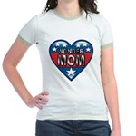 Heart Wonder Mom Mother's Jr. Ringer T-Shirt