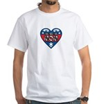 Heart Wonder Mom Mother's White T-Shirt