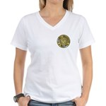 Mom University Honors Graduate Women's V-Neck T-Sh